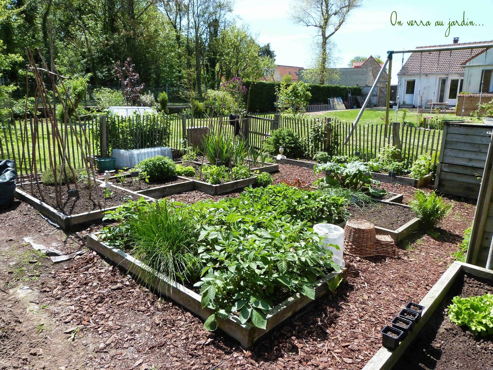 On verra au jardin au fond du potager for Au jardin potager