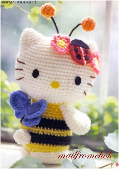 Free Crochet Pattern Heart Shaped Baby Doll : Hello Kitty - Abejita AMIGURUMIES