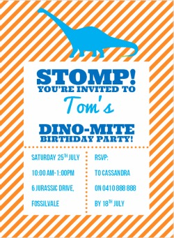 Dinosaur Stomp Invitation