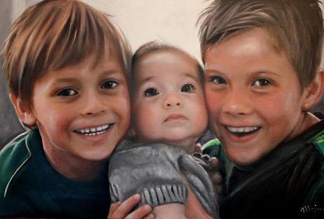 kinderen - olieverfportret