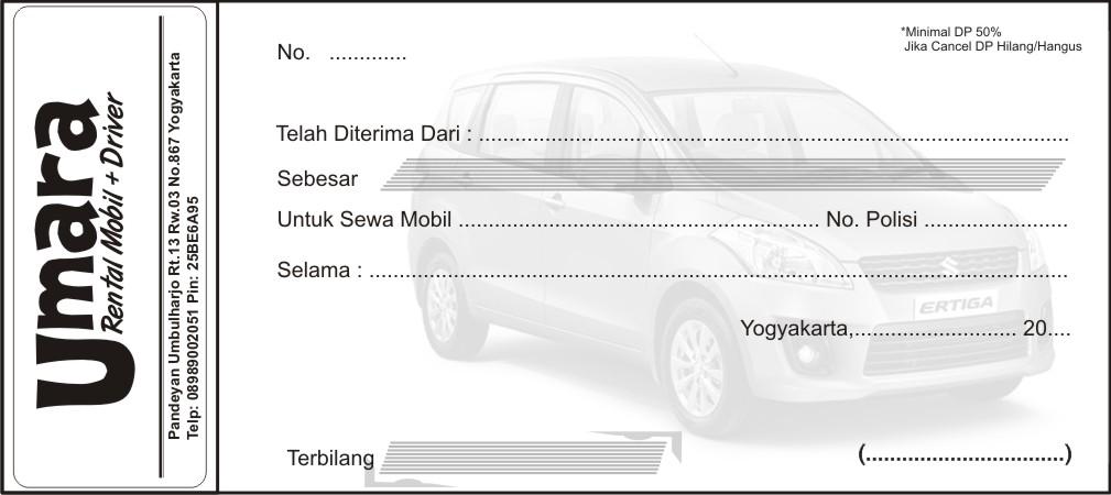 Download Gambar Nota Rental Mobil
