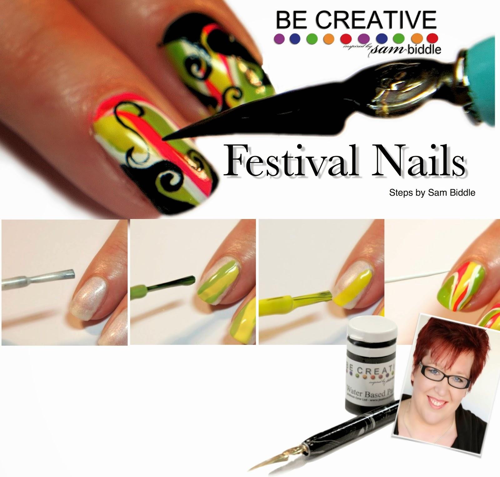 Sam Biddle: Festival Nails - a step by step