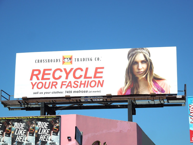 Recycle fashion billboard