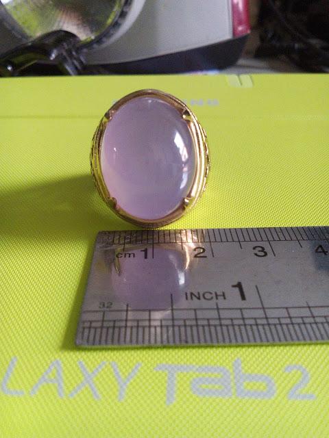 Lebar Batu Akik Lavender Pinkish.