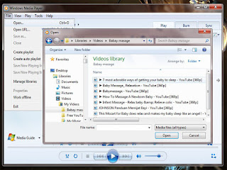 Memainkan File Audio dan Vidio Dengan Windows Media Player