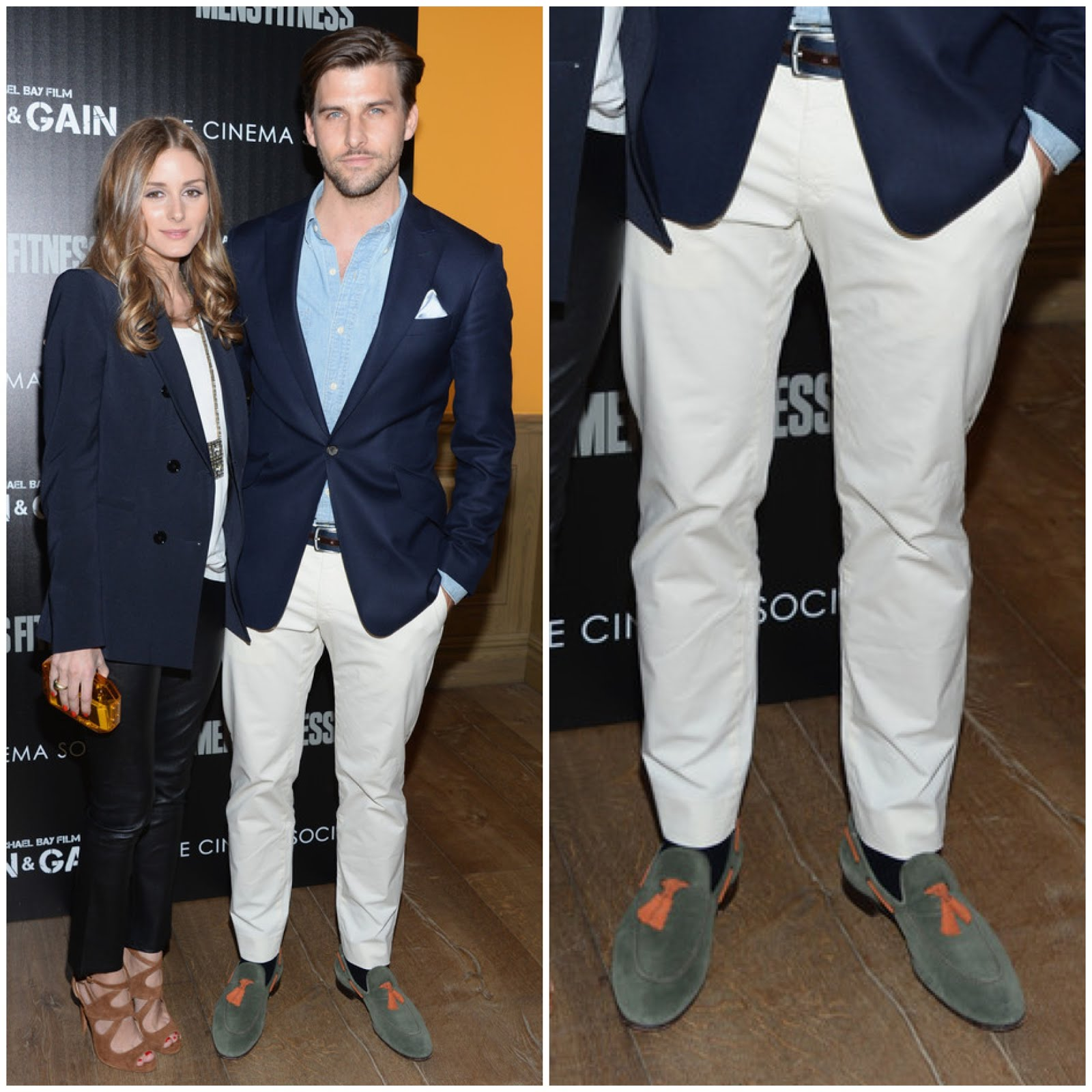 00O00 Menswear Blog Johannes Huebl Scarosso loafers - 'Pain and Gain' screening in New York, April 2013