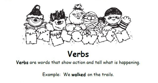 Smiling and Shining in Second Grade: Verbs Worksheet Using Halloween ...