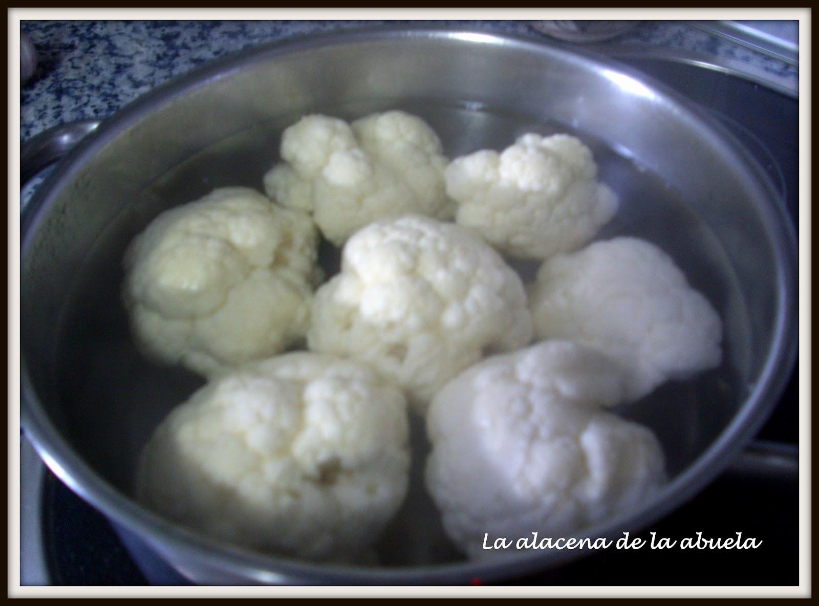 Como Cocinar Coliflor | La Alacena De La Abuela Carmen Coliflor Alinada