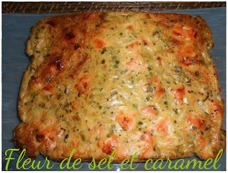 Quiche sans pâte saumon poireaux
