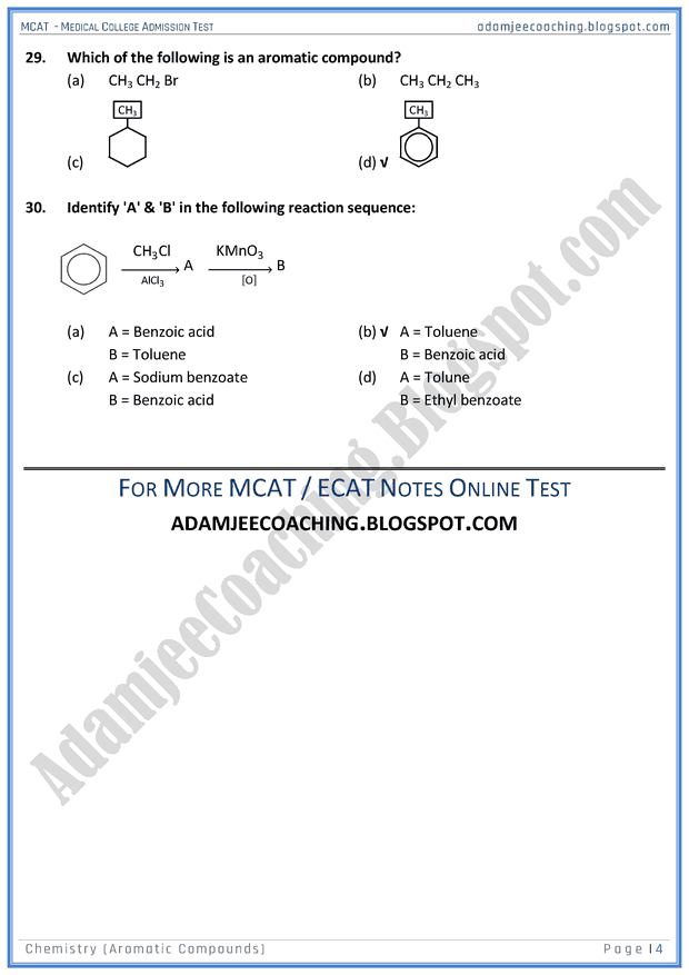 mcat-chemistry-aromatic-compounds-mcqs-for-medical-entry-test