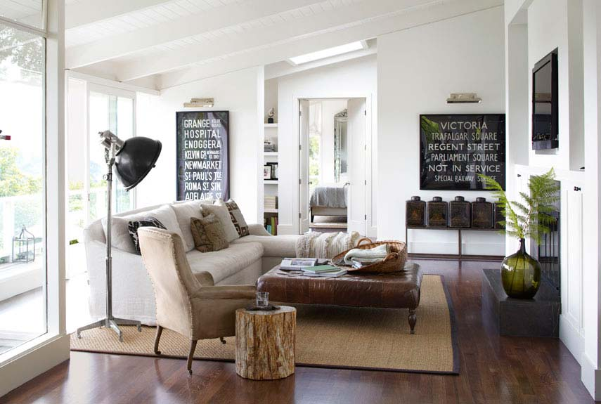 Neutral scheme with organic decor is always relaxing