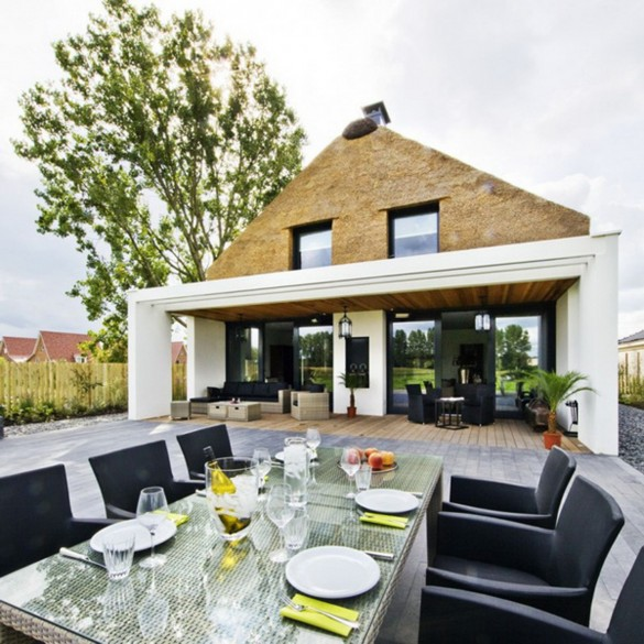 NETHERLANDS CALM OUTDOOR DINING ROOM IDEAS