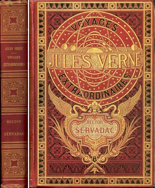 Make Vintage Book Cover : Pucd jules verne book covers