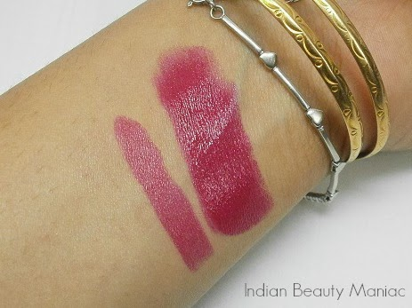 Oriflame More by Demi Lipstick in Pink Drama swatch
