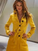 Victoria's Secret Sarı Renk Kaşe Kaban