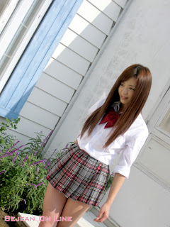 Mizuho Shiraishi Japanese Sexy Model Sexy Janpan Student Uniform From BEJEAN ON LINE 7