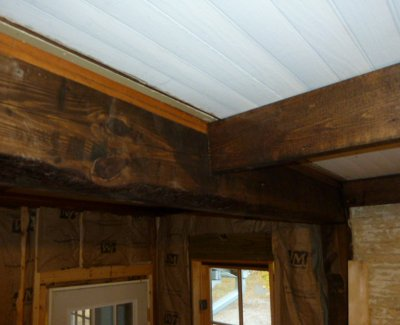 5 acres a dream decorative kitchen ceiling beams for Decorative beams in kitchen