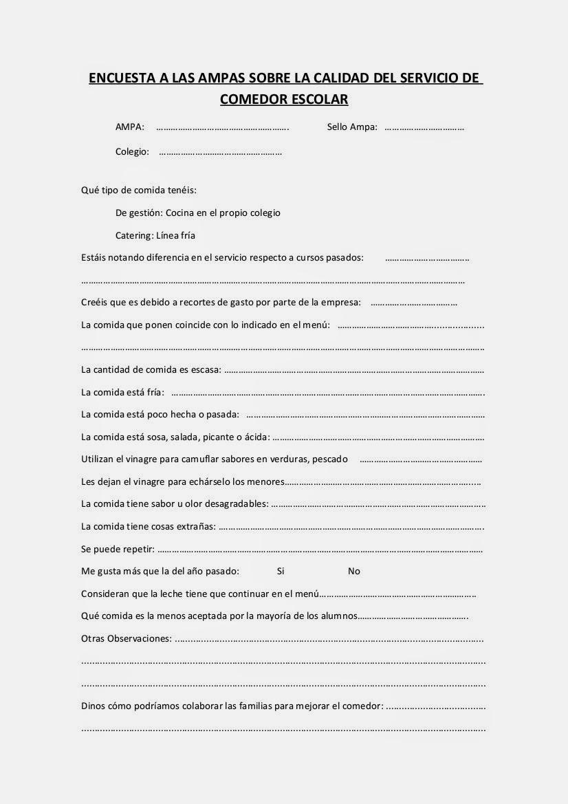 FAMPA Burgos: ACCIONES RELACIONADAS CON EL COMEDOR ESCOLAR