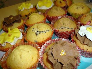 Muffins chocolate, frambuesa y lacasitos