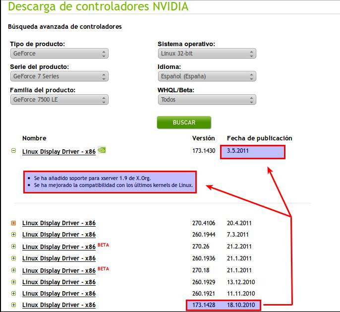 NVIDIA actualiza su controlador 173.xxxx