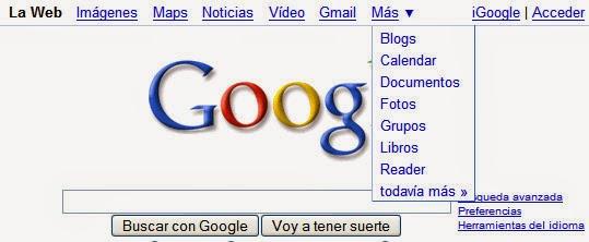 Vieja barra de Google (arriba)