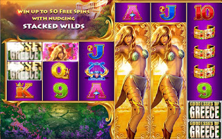 Goddesses of Greece has stacked wilds