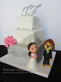 bolo de casamento noivos bragança