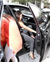 Kim Kardashian getting in the car
