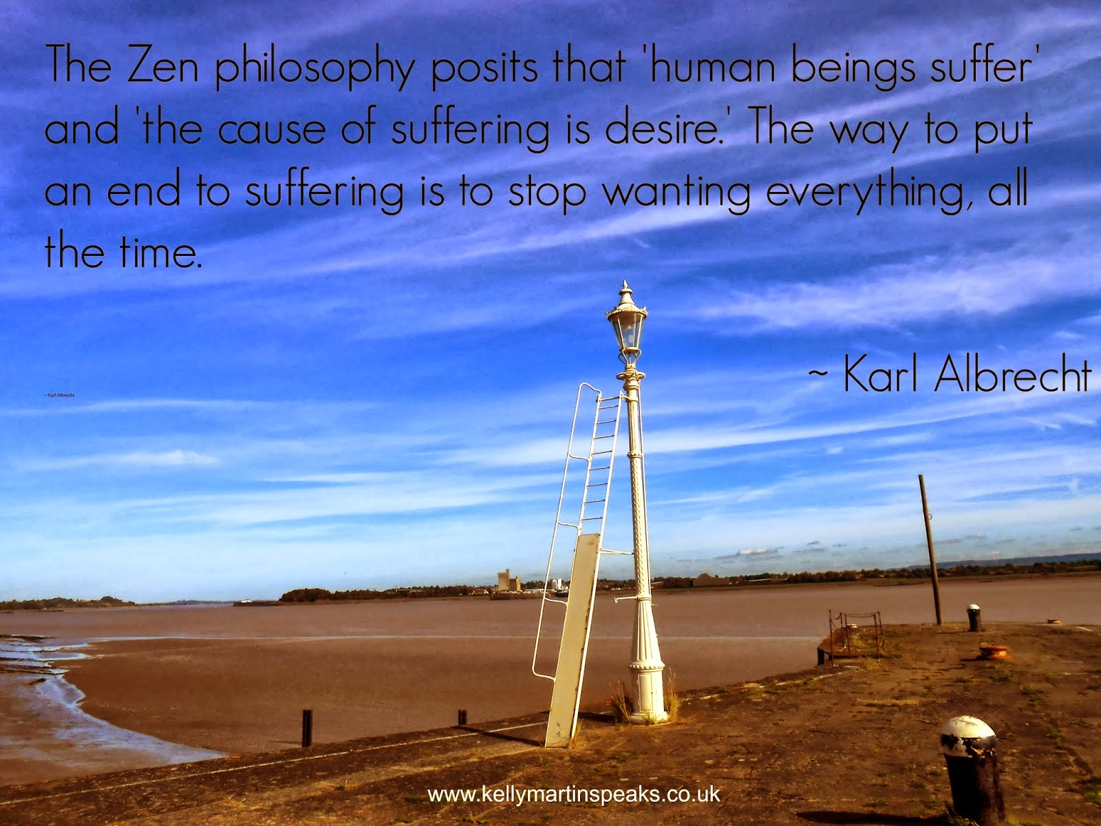 Quote on zen philosophy wanting desire