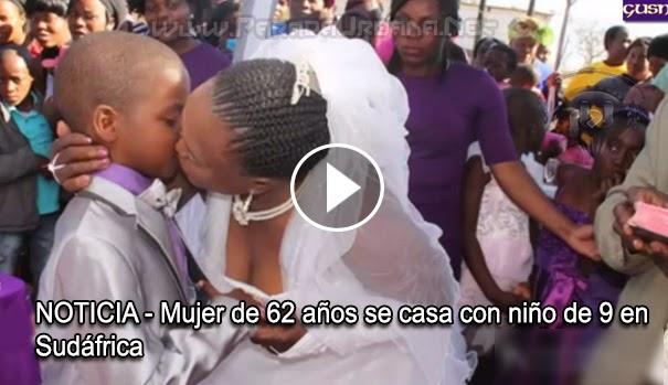NOTICIA INSOLITA - Mujer de 62 años se casa con niño de 9 en Sudáfrica