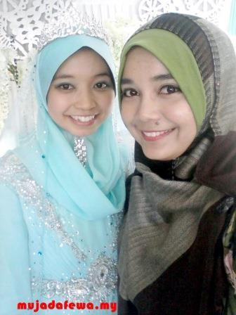 majlis perkahwinan, selfie dengan pengantin perempuan, majlis persandingan, pemilik fuh.my berkahwin, perkahwinan blogger