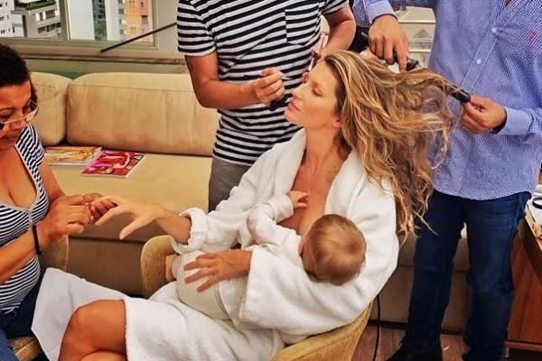 صورة, عارضة, أزياء, برازيلية, ترضع, ابنتها, تثير, جدلاً, كبيراً, عارضة أزياء برازيلية تتزين وترضع طفلتها,
