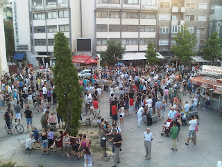 Аман! Протест во Скопје - подготовки од птичја перспектива
