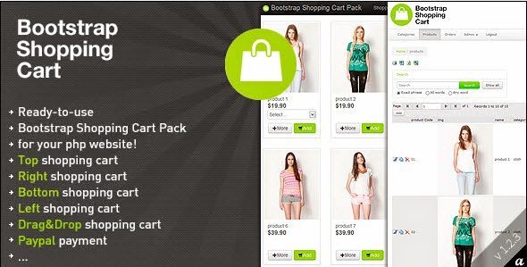 Bootstrap Shopping Cart Pack