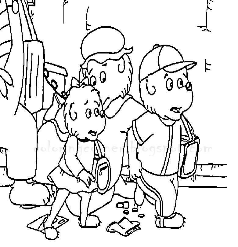 Berenstain Bears Coloring Pages Berenstain Bears Tree Coloring Page