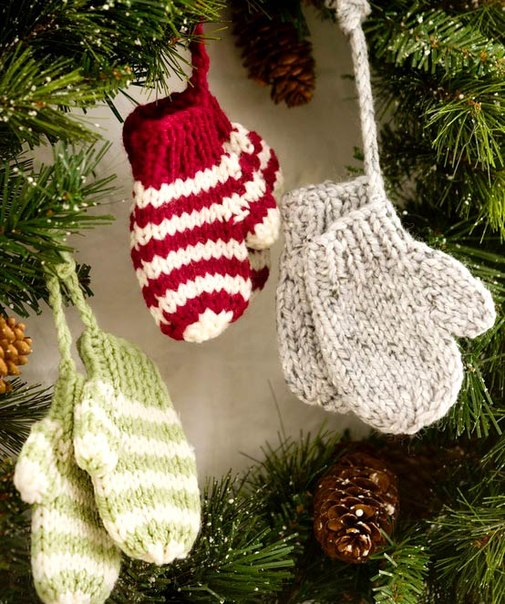 Christmas Knitting Patterns Easy : Homemade knitted Christmas decorations ~ Home Decorating Ideas