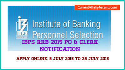 IBPS RRB CWE Notification 2015