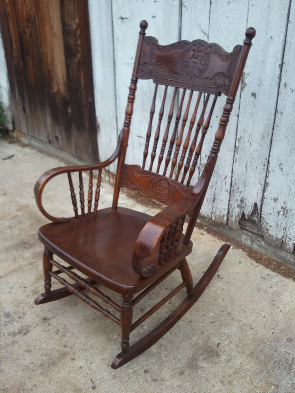 Rocking chairs morris chairs antique mission oak rocking chair - The Results Can Be Seen In The Three Photos Of The Completed Rocking Chair
