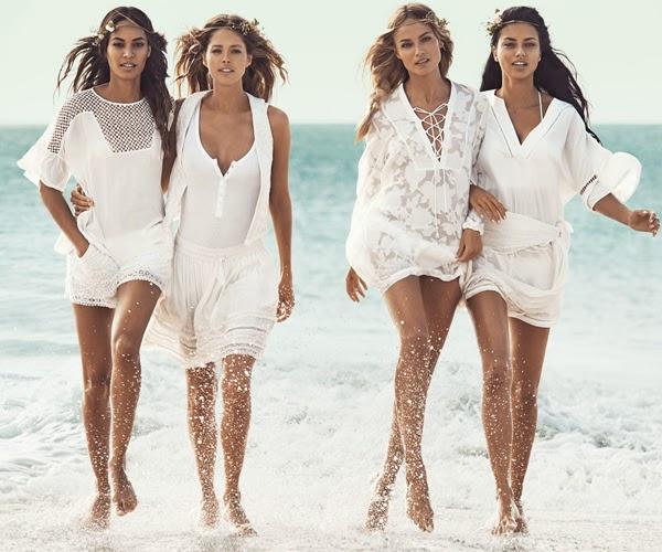 H&M mujer verano vestidos cortos blancos falda y blusa