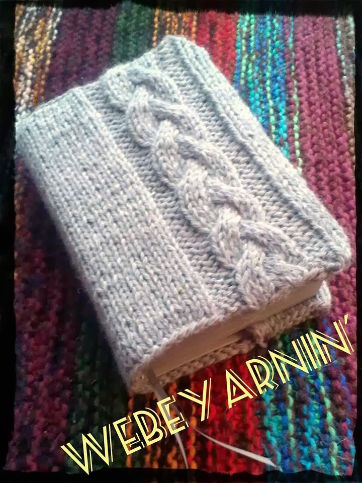Book Cover Pattern Free ~ Webeyarnin knit bible cover with pattern