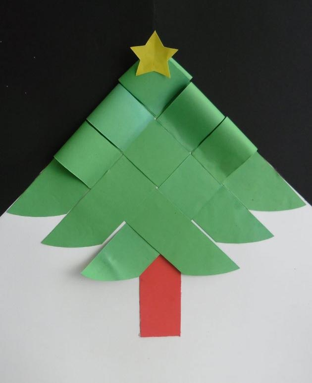 Papo s rio artes com papel - Arbol de navidad de origami ...