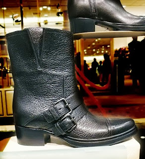 Miu Miu Cracked Double Strap Boot.
