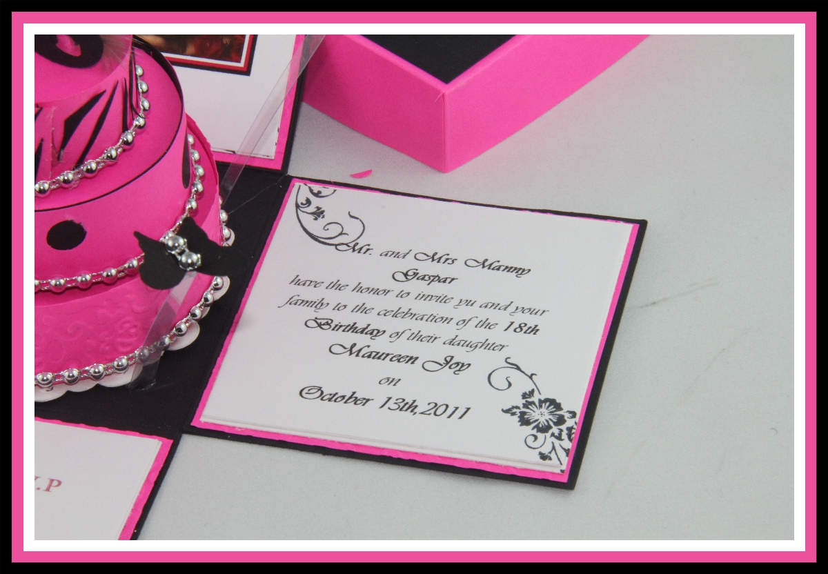 Jinkys crafts designs 18th birthday philippines tradition invitation wordings stopboris Gallery