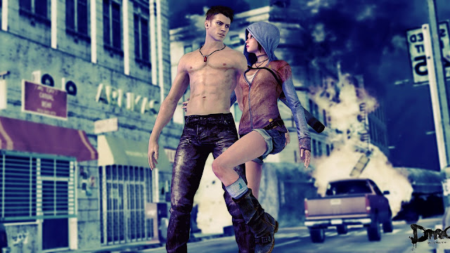 DmC Devil May Cry 5 Boy with Girl HD Wallpaper