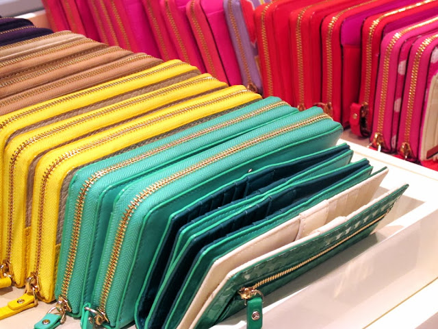 Kate Spade colourful patent leather purses