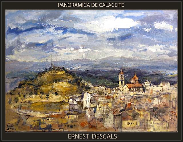 CALACEITE-PINTURA-MATARRANYA-PANORAMICAS-TERUEL-CUADROS-PAISAJES-PINTOR-ERNEST DESCALS-