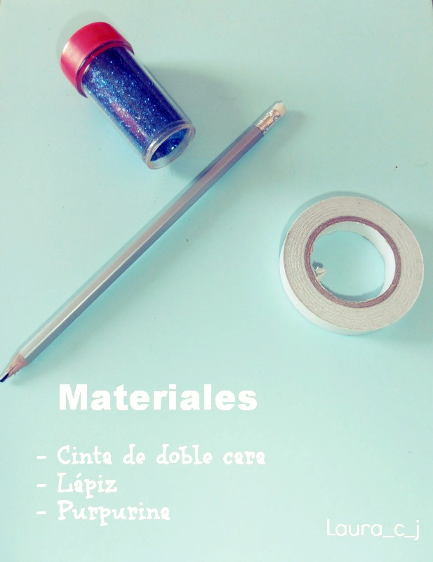 Tutorial decorar lapiz con purpurina by Laura_c_j