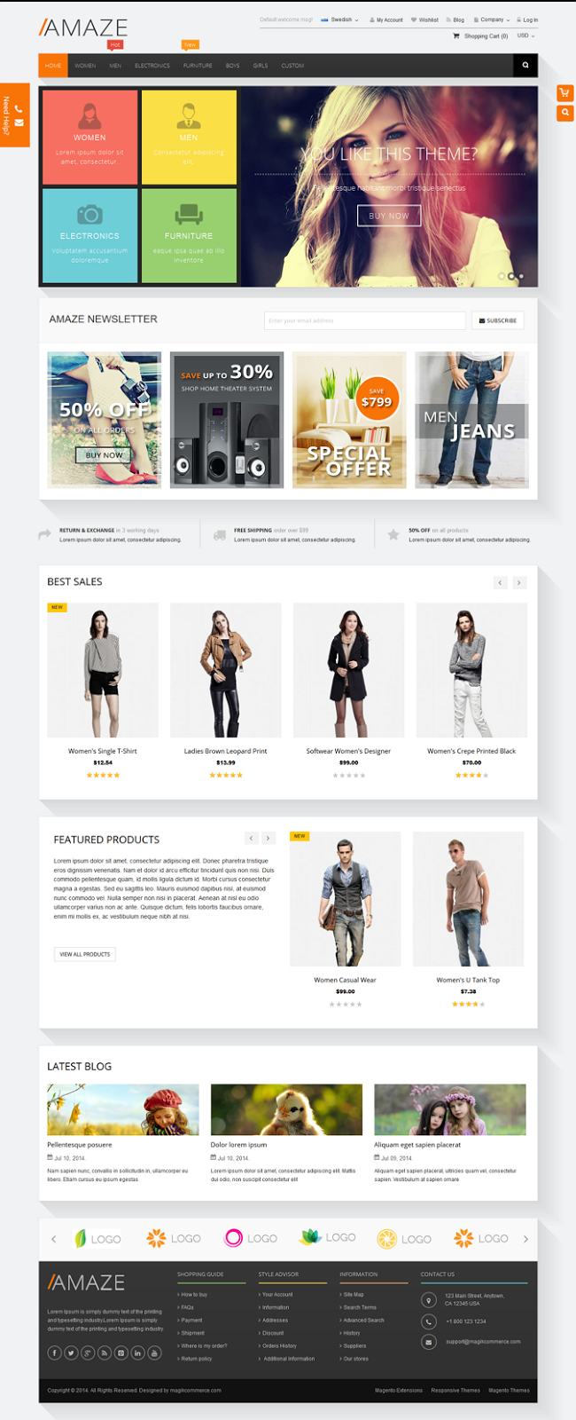 best multipurpose magento template