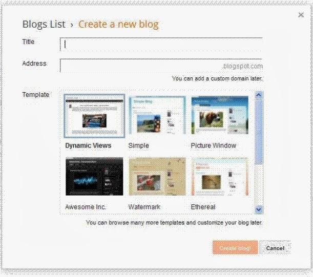 cara membuat blog di blogger dengan mudah
