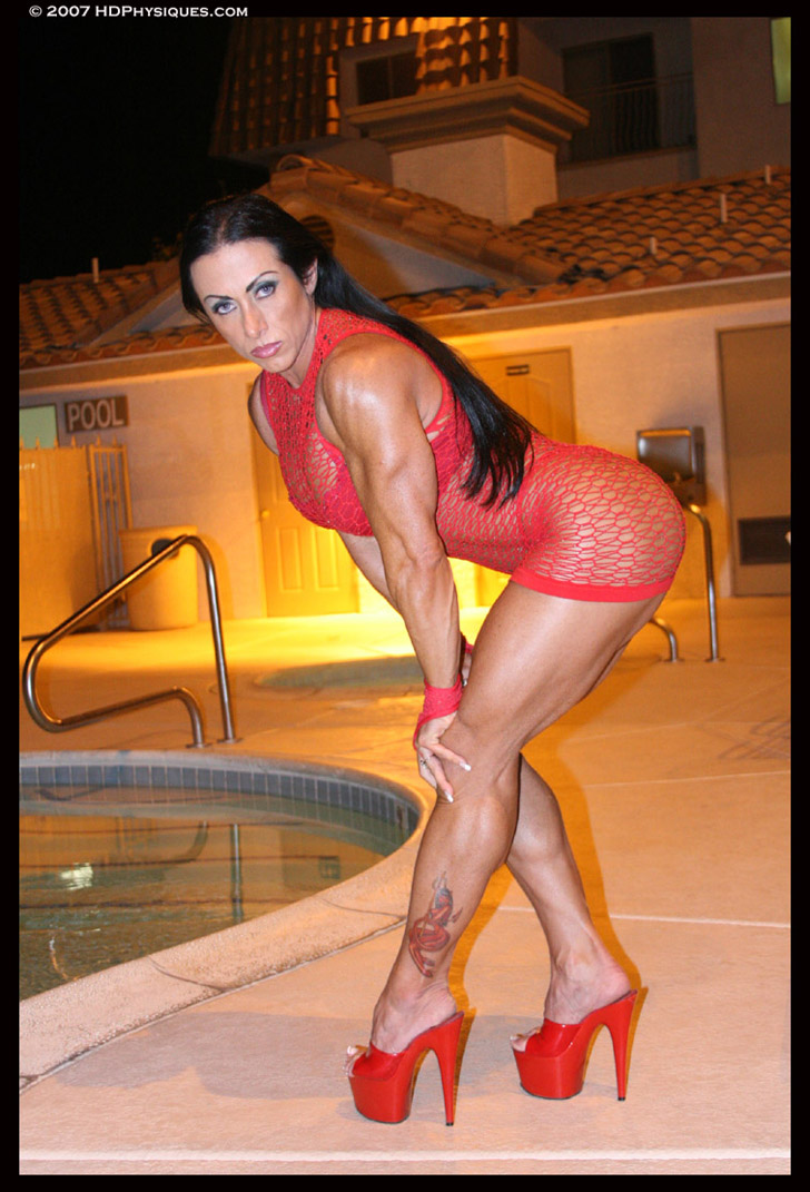 Monica Martin Modeling Her Muscular Legs And Ripped Arms